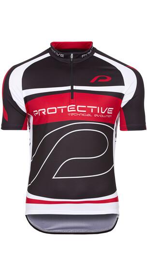 Protective Matthew Kortærmet cykeltrøje Herrer rød/sort